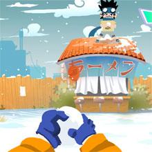 choi game Naruto ném tuyết