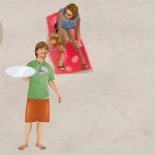 choi game Phục vụ bãi biển