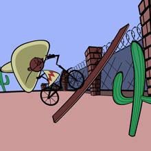 choi game Xe đạp vượt biên